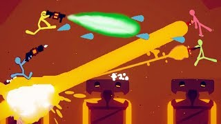 NEW GAME BREAKING ULTIMATE LASER and EPIC TEAM BATTLES! - Stick Fight: The Game Gameplay