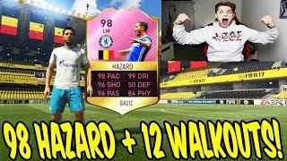 98 TOTS HAZARD + 12 WALKOUTS IN A PACK OPENING! 🔥🔥 - FIFA 17 FUT CHAMPIONS ULTIMATE TEAM (DEUTSCH)