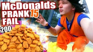 McDonalds PRANK FAIL - SON GOKU 200 Chicken McNuggets - McDonalds Roulette