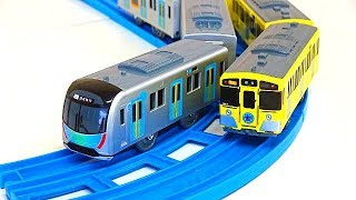 """""""Gachachotto action station"""" Japanese train, TAYO, Tomica, Cars video for children"""
