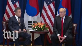 Trump participates in meeting with South Korea