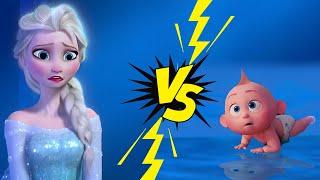 The Incredibles 2 Trailer Gone Wrong | Jack Jack Prr Meets Frozen Elsa