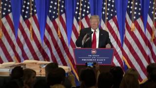 Donald Trump gives first press conference after elections