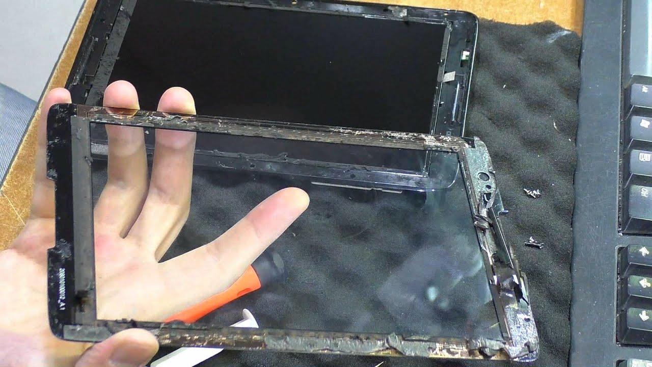 Замена матрицы планшета