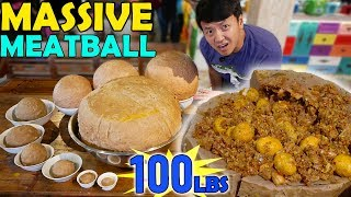 MASSIVE 100 POUND Meatball & FOOD CHALLENGE in Indonesia