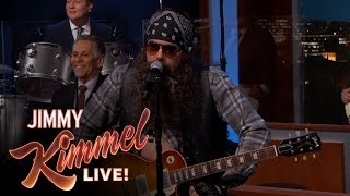 John Mayer Disguised as Hank the Hawk Knutley on Jimmy Kimmel Live