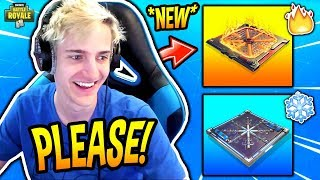 NINJA WANTS TO ADD *NEW* FIRE AND FREEZE TRAPS TO FORTNITE! Fortnite SAVAGE & FUNNY Moments