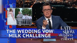 Video Of The Wedding Stephen Ruined With Almond Milk