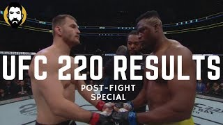 UFC 220 Results: Stipe Miocic vs. Francis N