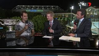 Roger Federer - Interview after winning 2017 Australian Open Mens Finals