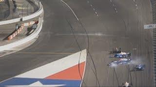 IndyCar Series 2017. Texas Motor Speedway. Takuma Sato, Scott Dixon & Max Chilton Crash