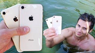 iPhone 8 vs 7 Water Test! Secretly Waterproof?