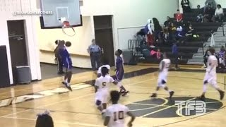 DUNK SHATTERS the BACKBOARD! High Schooler Isaiah Banks SHATTERS the Glass with his DUNK