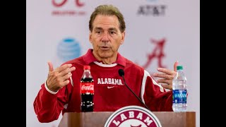 Nick Saban talks about last spring practice ahead of A-Day