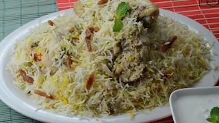 white chicken biryani