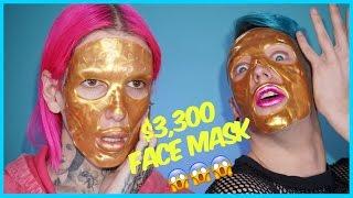 $3,300 GOLD FACE MASK??!! Review + Demo feat. Laganja Estranja