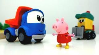 Leo der Lastwagen 🚚 und Peppa Wutz 🐽 Video: wir bauen einen Spielplatz – Peppa Pig auf Deutsch