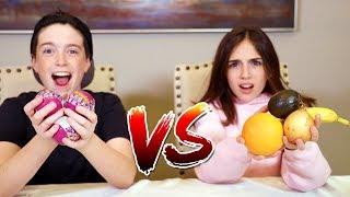 SURPRIZAMALS vs REAL FOOD!!