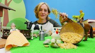 Nicoles Grüne Box - Wir gehen auf den Bauernhof - Spielzeugvideo für Kinder