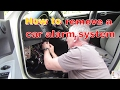 Tips for removing a car alarm systemmp3
