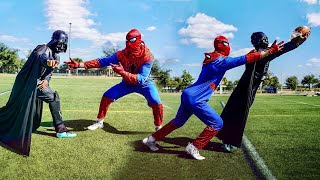 IF SUPERHEROES PLAYED IN THE NFL.. (Spider-Man vs Darth Vader)