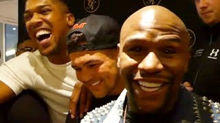 "FLOYD MAYWEATHER RESPONDS TO MCGREGOR, HAS JOSHUA CRACKING UP: ""I LOOK FORWARD TO SIGNING MY END"""