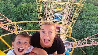 LUNAPARKTA SAKLAMBAÇ oynadık! En yüksek DÖNME DOLAP! Hide and seek family fun Outdoor Playground