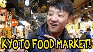 Kyoto Japan Street Food Tour! Nishiki Market