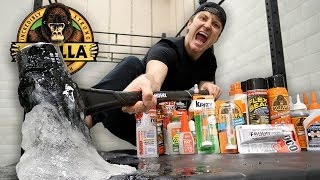 MIXING EVERY GLUE IN THE WORLD TOGETHER!! (WHAT HAPPENS WHEN YOU MIX EVERY GLUE IN THE WORLD)