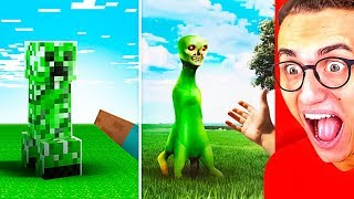 Amazing MINECRAFT vs. REAL LIFE CHALLENGE!