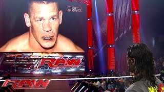"""Seth Rollins has a heated war of words with """"John Cena"""": Raw, Aug. 10, 2015"""