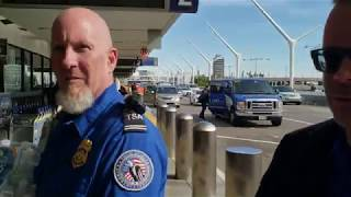 Citizens donating food and water to the TSA at  LAX
