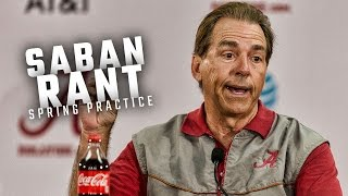 Alabama head coach Nick Saban rants about NCAA, rips reporter at spring practice press conference