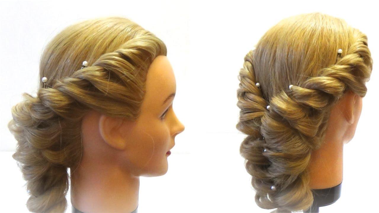 Прически плетения на средние волосы