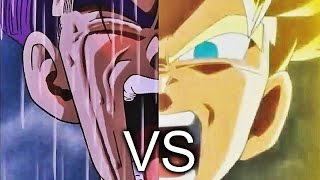 Future Trunks turns super saiyan for first time 1995 VS 2016