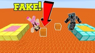 Minecraft: THIS PARKOUR IS FAKE!!! (INVISIBLE JUMPS!) Custom Map