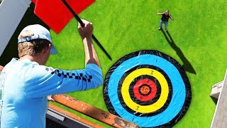 GIANT Darts from a 30ft Scissor Lift!! *DONT MISS*