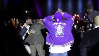 Rickey Smiley Hops With The Bruhs After A Performance (2011)