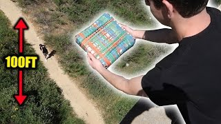 CAN 10,000 RUBBER BANDS PROTECT AN XBOX FROM 100FT DROP?! | FaZe Rug