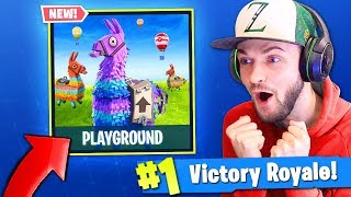 NEW *PLAYGROUND* MODE in Fortnite: Battle Royale! (AMAZING)