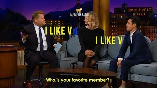 People going crazy about V Taehyung [James Corden, Max Minghella, youtubers, media]