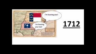 Why did Carolina Split into North and South Carolina?