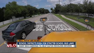 Districts working to target drivers who pass school buses