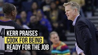 Kerr says Quinn Cook was ready for the job