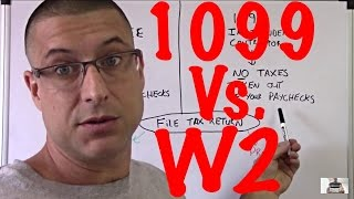 Income Tax Tips #1/ W2 or 1099 / One Major Difference / Independent Contractor
