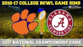 2017 NCAA National Championship Game Sim - Alabama vs Clemson (NCAA Football 14 - Xbox 360)