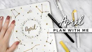 PLAN WITH ME   April 2017 Bullet Journal Setup
