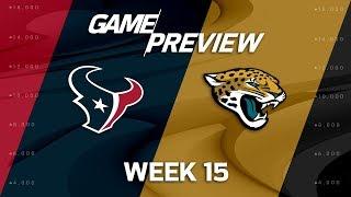 Houston Texans vs. Jacksonville Jaguars | NFL Week 15 Game Preview | NFL Playbook