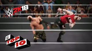 A Festival of Shattering Superkicks!: WWE 2K18 Top 10