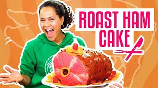 How To Make A THANKSGIVING ROAST HAM Out Of Pink Vanilla CAKE | Yolanda Gampp | How To Cake It